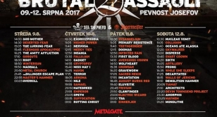 Brutal Assault 22 - running order, lineup changes and warm-up party